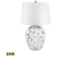 Dimond Lighting 324W-LED Open Work 26 inch 9.5 watt White Table Lamp Portable Light