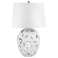 Dimond Lighting 324W Open Work 26 inch 100 watt White Table Lamp Portable Light