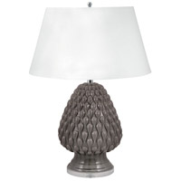 Raindrop 29 inch 100 watt Grey Table Lamp Portable Light