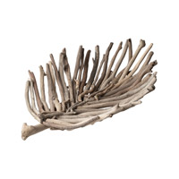 Lazy Susan by Dimond Driftwood Leaf Tray in Natural Cream 356001
