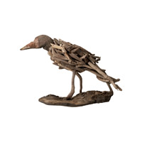 Lazy Susan by Dimond Driftwood Bird in Brown 356002