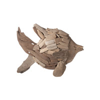 Lazy Susan by Dimond Driftwood Angel Fish in Brown 356007