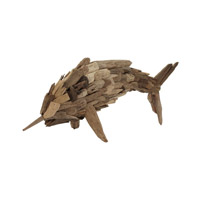 Lazy Susan by Dimond Driftwood Fry Marlin in Brown 356018
