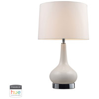 Continuum 18 inch 60 watt Chrome with White Table Lamp Portable Light