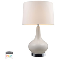 Dimond Lighting 3935/1-HUE-D Continuum 27 inch 60 watt Chrome with White Table Lamp Portable Light
