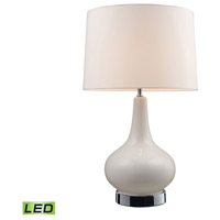 Dimond Lighting 3935/1-LED Continuum 27 inch 13.5 watt White & Chrome Table Lamp Portable Light in LED