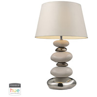 Elemis 23 inch 60 watt Chrome with Pure White Table Lamp Portable Light