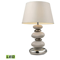 Elemis 23 inch 13.5 watt Pure White And Chrome Table Lamp Portable Light in LED