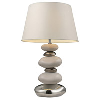 Dimond Lighting Mary Kate & Ashley Elemis 1 Light Table Lamp in Pure White And Chrome 3948/1