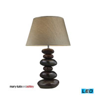 Elemis 23 inch 13.5 watt Natural Stone Table Lamp Portable Light in LED