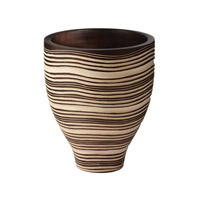 Lazy Susan by Dimond Mui Ne Dune Vessel in Brown and Cream 398012