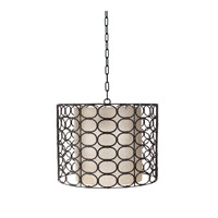 Lazy Susan by Dimond Lighting Oval Ring Drum 1 Light Pendant in Gray 466002