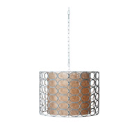 Lazy Susan by Dimond Lighting Oval Ring Drum 1 Light Pendant in White 466006