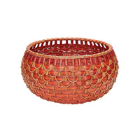 Fish Scale Red and Orange Basket