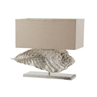Dimond Lighting Wide Leaf 2 Light Table Lamp in Nickel Aluminium and Fabric 468-030