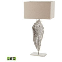 Dimond Lighting Leaf 2 Light LED Table Lamp in Nickel Aluminium and Fabric 468-031-LED