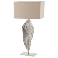 Dimond Lighting Leaf 2 Light Table Lamp in Nickel Aluminium and Fabric 468-031