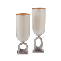 Dimond Home O Hurricane Candle Holder in Nickel and Mop and Gold Glass Aluminum and Glass 468-050/S2