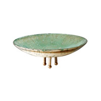 Lazy Susan by Dimond Gilded Sea Dish in Blue and Green 468001