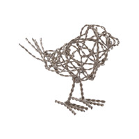 Lazy Susan by Dimond Scribble Bird in Silver 559010
