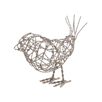 Lazy Susan by Dimond Scribble Bird in Silver 559011