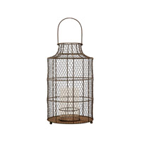 Lazy Susan by Dimond Chicken Wire Hurricane in Aged Iron 594040