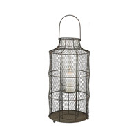 Chicken Wire 24 inch Aged Iron Hurricane Portable Light