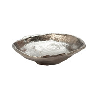 Lazy Susan by Dimond Lava Saucer in Silver 627033