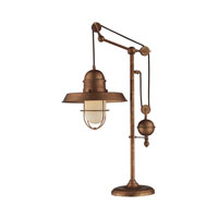Dimond Lighting Farmhouse 1 Light Table Lamp in Bellwether Copper 65062-1
