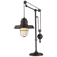 Farmhouse 32 inch 13 watt Oiled Bronze Table Lamp Portable Light