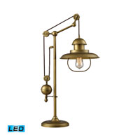 Farmhouse 32 inch 13.5 watt Antique Brass Table Lamp Portable Light