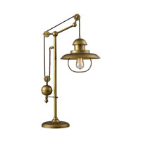 Dimond Lighting Farmhouse 1 Light Table Lamp in Antique Brass 65100-1 photo thumbnail