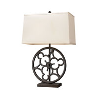 Dimond Lighting Ironton 2 Light Table Lamp in Vintage Rust 65112-2