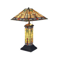 Dimond Lighting Sedona 3 Light Table Lamp in Tiffany Bronze 668-TB photo thumbnail