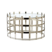 Lazy Susan by Dimond Signature Coffee Table in Silver 675001