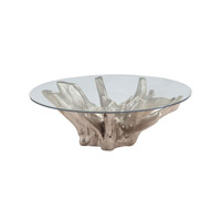 Lazy Susan by Dimond Lighting Teak Root Coffee Table in Champagne Gold 7011-002