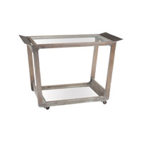 Lazy Susan by Dimond Lighting Thompson Bar Cart in Euro Grey Stain 7011-031