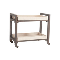 Lazy Susan by Dimond Lighting Wright Bar Cart in Warm Grey Stain and Natural Rattan 7011-032