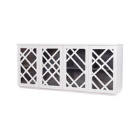 Lazy Susan by Dimond Lighting Plaid Credenza in White 7011-035