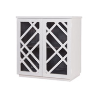 Lazy Susan by Dimond Lighting Plaid Side Chest in White 7011-036