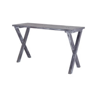 Lazy Susan by Dimond Lighting Cross Legged Console Table in Restoration Grey 7011-039
