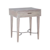 Lazy Susan by Dimond Lighting Empire Stretcher Side Table in Restoration Grey 7011-044