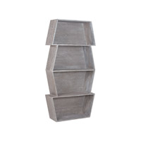 Lazy Susan by Dimond Lighting Glenn Stackable Bookcase in Restoration Grey 7011-046