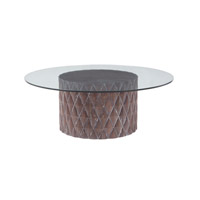 Lazy Susan by Dimond Lighting Coco Coffee Table in Restoration Grey 7011-057
