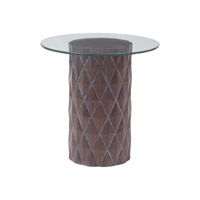 Lazy Susan by Dimond Lighting Coco Side Table in Restoration Grey 7011-058
