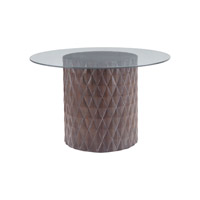 Lazy Susan by Dimond Lighting Coco Entry Table in Restoration Grey 7011-059