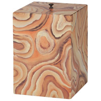 Desert Agate Hand Painted Desert Agate Pattern Trash Can