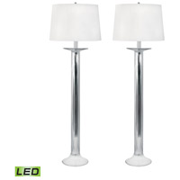 Candlestick 34 inch 9.5 watt Mercury Glass Table Lamp Portable Light, Set of 2