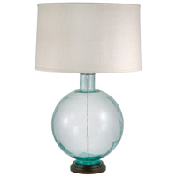 Signature 31 inch 100 watt Aquamarine Table Lamp Portable Light