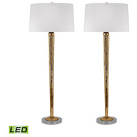 Dimond Lighting 711/S2-LED Candlestick 37 inch 9.5 watt Mercury Gold Table Lamp Portable Light, Set of 2